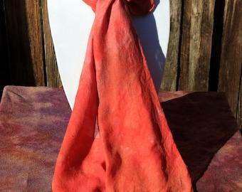 Mottled Red Silk/Wool scarf