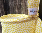 Nursing Cover Up, Breastfeeding Cover in Pale Yellow Polka Dots