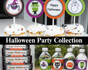 50% OFF SALE - Halloween Party Package Printable - Instant Download