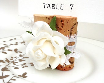 Lace Place Card Holder Wedding Name Card Holder Wine Cork Theme Wedding Table Decor Winery Wedding Favors Signage Wine Tasting Party Sign