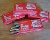 """Stanley Bostich B 8 staples, 1/4"""" leg, 5000 count Lot of 4 boxes"""
