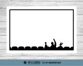 MST3K silhouette dry erase board aluminum sign geek gift