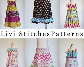 Livi Stitches Pattern Collection- Includes 26 Children's Sewing Patterns