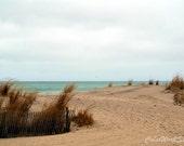 Ocean Print, Coastal Decor, Seascape, Nautical, Atlantic, Jersey Shore, Beach Photo, Ocean Photo, Landscape, Teal, Blue, Brown Sand