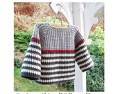 Ribbed Pullover for Kids - Crochet Pattern - Instant Download