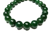 Green Jade 10mm - Therapeutic Quality Gemstone Bracelet for Healing and Meditation