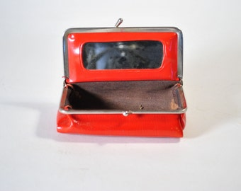 Vintage Red Change Cosmetic Purse
