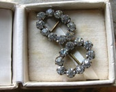 1930s Petite Paste Shoe Clips by Lambert Brothers Jeweler