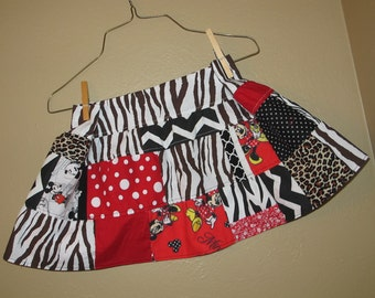 2t, 3t, 4t -  Animal Kingdom themed skirt - ready to ship - Minnie - Miss Mouse