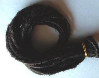 15 SE Single End Synthetic Dark Brown Dreads Braid in Dreadlock Hair Extensions