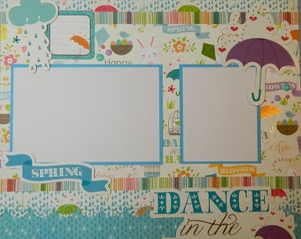 Dance in the Rain - 12x12 Premade 1 Page Scrapbook Layout