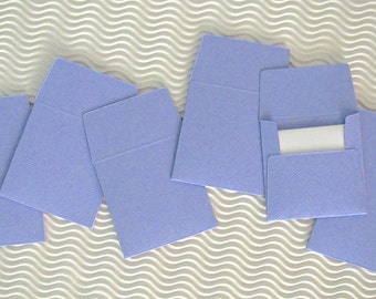 36+ teeny tiny envelope note card sets handmade hyacinth purple mini miniature square party favors weddings stationery guest book
