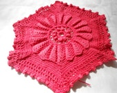 Vintage Crocheted Hand-Dyed Potholder
