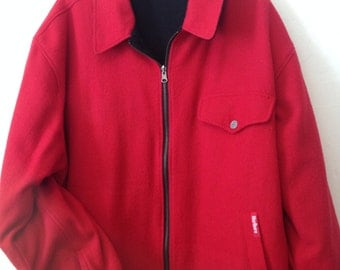 Marlboro Collection Vintage Big Tall Men Reversible Red Black Coat