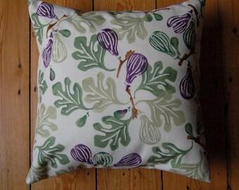 Handmade Cushion Cover Emma Bridgewater Fig Fabric 16 x 16