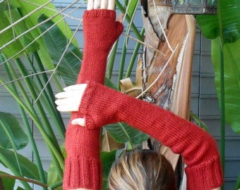 Arm Warmers/Fingerless Gloves/Mitts in Pumpkin Spice