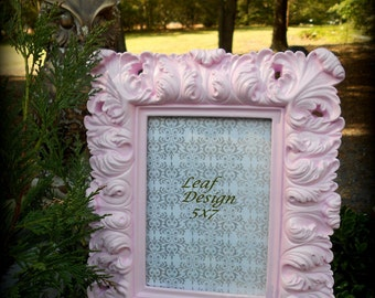 Sweet Baroque Frame-5x7-Custom Colors are Free!Fancy Frame,Pink Nursery,Pink Reception,Victorian,Paris Pink, Chic,Girl's room,Rococo,Chateau