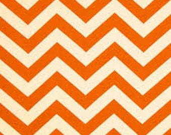 Chevron Suede - Orange and Ivory - Micro Suede - by the yard