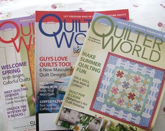 Lot of 3 Quilters World Magazines Older Issues