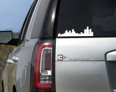 Detroit Skyline Car Window Decal.  Show off your pride in the 313 to all