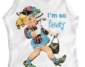 I'm so Fancy tank tee shirt one piece body suit tshirt Vintage inspired childrens tshirt I'm so Fancy