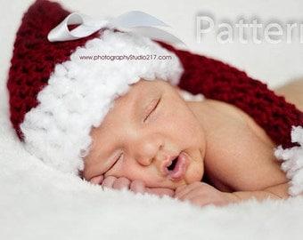 PDF CROCHET PATTERN Elf Hat, Baby Hat, Crochet Baby Hat, Santa Hat, Newborn Hat,  Baby Boy Girl Hat, Baby Boy, Crochet Hat, Newborn Elf Hat