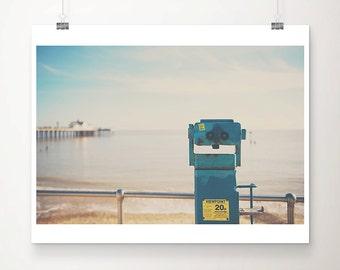 beach photograph viewfinder photograph ocean photograph southwold pier photograph beach print coastal print seaside photograph