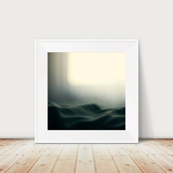 abstract photograph bed photograph ocean photograph green home decor abstract art minimalist decor a sea of bed covers