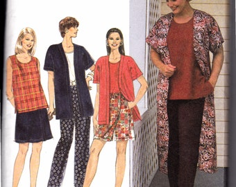 Womens Sewing Pattern 1990s Jacket Top Pants and Shorts Bust 40-46 Plus Size 18w-24W Simplicity 7480