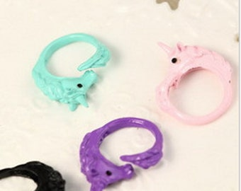 Unicorn Ring Size 8 Pink