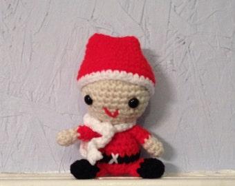 Baby Santa - Crocheted Doll -  Santa Amigurumi