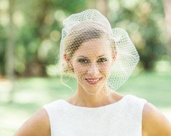 blusher birdcage Veil | Birdcage veil | wedding birdcage veil- MACHA