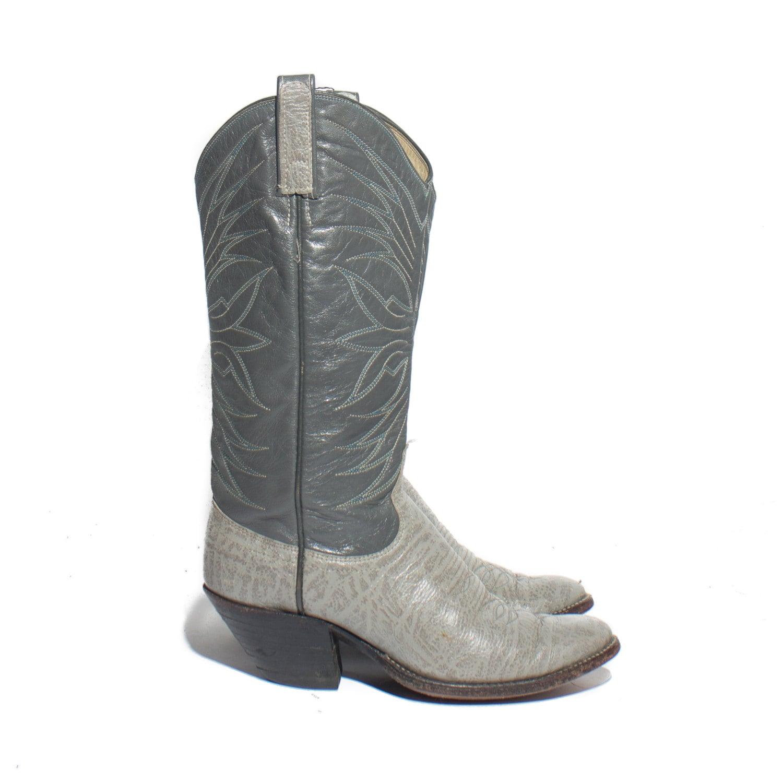 7 a dan post cowboy boots s gray western wear by shopndg