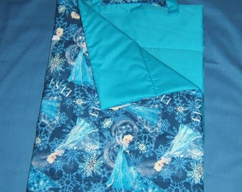 Frozen inspired Sleeping Bag for 18 inch doll