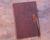 Leather Moleskine Cover for 13x21cm cahier with Leather Pocket, Straight lace closure, Sienna Brown, COVER ONLY