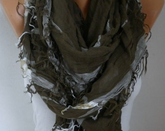 Sage Green Plaid Scarf Winter Accessories OversizeTartan Scarf Shawl Cowl Scarf Cotton Scarf Gift Ideas For Her Women Fashion Accessories
