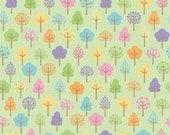 FLANNEL/Alpine Fabrics Flannel Trees Green F2078 by Doodlebug Design/Fabric by the Yard/Half Yard/Quarter Yard/Fat Quarter/PRICE VARIES