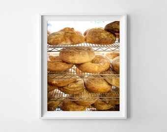 Food Photography Toronto Portuguese Bakery Brown Kitchen Decor - Food Art, Brown Wall Art - Small and Large Wall Art Sizes Available