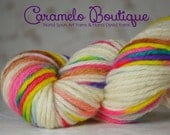 Superwash Hand Dyed Bulky Weight Wool Yarn Skein-Multicolored Bulky Wool Yarn Hand Painted-Knit or Crochet Supplies-Hand Dyed Wool Yarn
