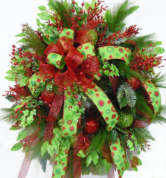 Christmas Wreaths For Double Front Doors: CHRISTMAS DOOR WREATH Christmas Delight With A