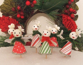 Snow Ladies/Snowman Cupcake Toppers/Christmas Cucpakes