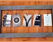 Alphabet Art Photography Memo Board Wire Frame with LOVE photos - Personalize with your own photos