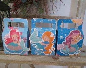 Mermaid Favor Boxes Set of 12