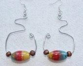Abstract Wire Beaded Earrings