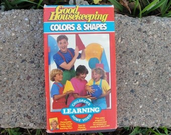 Vintage VHS Colors and Shapes video for kids