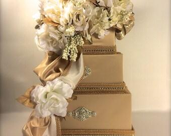 Wedding Card Box Gold Ivory Diamond Wedding Card Holder  Secured Lock Wedding Card Box, Diamond Wedding Card Box, Off White Wedding Card Box