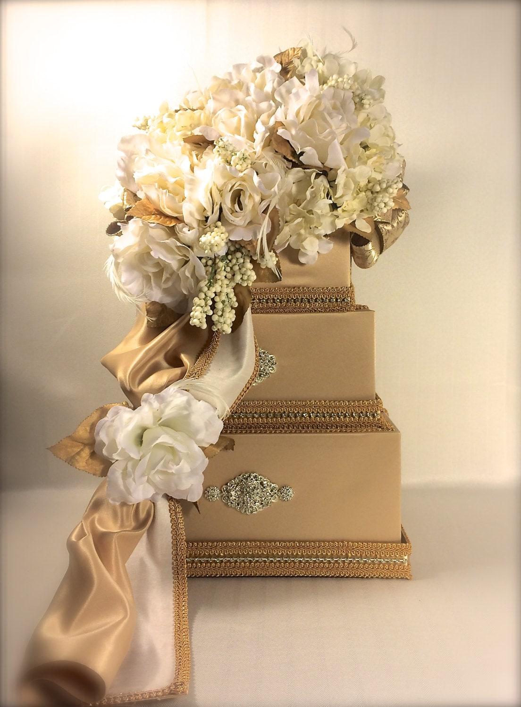 Gold Wedding Reception Gift Card Holder : Wedding Card Box Gold Ivory Diamond Wedding Card Holder