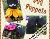 PDF Crochet Pattern Bug Puppets