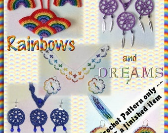 PDF Crochet Pattern Rainbows and Dreams Jewellery