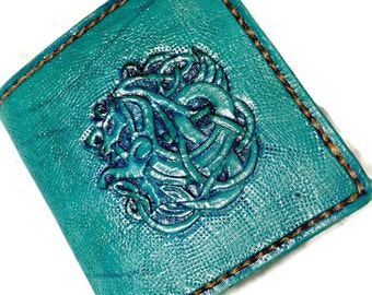 Celtic Irish Gift - Celtic Irish Wallet - Horse Lover Gift - Dad Gift - Girlfriend Gift - Knotwork. Holds 8 credit cards, has 1 bill slot